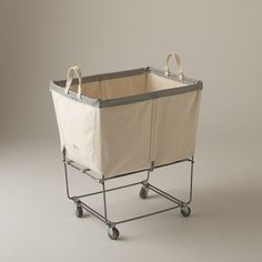 Portrayal of An Easy Solution to Carry Out the Heavy Laundry in Your House with Carts on Wheels