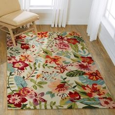 Hand-hooked Floral Ivory/ Blush Multi Transitional Rug - x (Ivory/Berry - x Pink, Alexander Home Tapete Floral, Floral Area Rugs, Transitional Rugs, Carpet Stains, Cool Rugs, Paisley Design, Rugs Online, Online Home Decor Stores, Outdoor Rugs