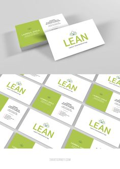 Green and white business cards for LEAN. Registered Dietitian and Yoga Instructor. Click through to view the full brand + website project! #businesscards #bizcards #business #branding #green #white #brandinspo #businesscardinspo #nutrition #wellness #yoga Branding Portfolio, Portfolio Design, Business Card Logo, Business Branding, Yoga, Online Entrepreneur, Name Cards, Website Template, Branding Design