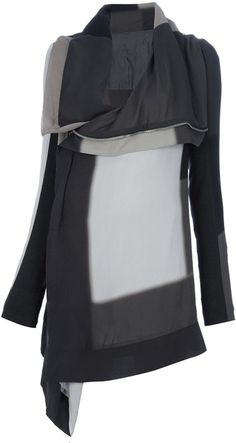 This patchwork coat by Rick Owens looks so warm for the winter!