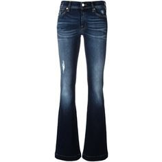 7 For All Mankind 'Charlize' bootcut jeans (2 935 SEK) ❤ liked on Polyvore featuring jeans, blue, blue jeans, 7 for all mankind jeans, boot cut jeans, boot-cut jeans and 7 for all mankind