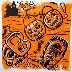 Halloween Fabric, Halloween Items, Creepy Halloween, Halloween Horror, Vintage Halloween, Happy Halloween, Pumpkin Cocktail, Lowbrow Art, Fall Wallpaper