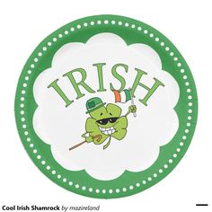 Cool Irish Shamrock 9 Inch Paper Plate