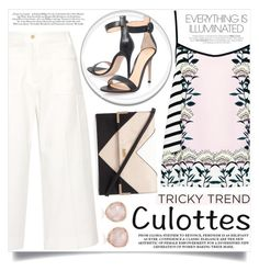 """""""Chic Culottes"""" by aislinnhamilton1993 ❤ liked on Polyvore featuring Maison Margiela, Markus Lupfer, Lipsy, Gianvito Rossi, Monica Vinader, TrickyTrend and culottes"""