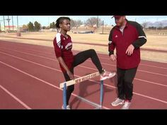 Hurdle Drills - Aggie Academy (New Mexico University with Coach leg fence Trial leg/rhythmic Keep Running, Running Tips, Track Drill, Running Training Plan, Track Workout, Hurdles, Track And Field, Stay Fit, Athlete