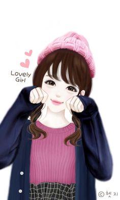 Enakei, girl, and kawaii girl image. Korean Anime, Lovely Girl Image, Girly M, Cute Cartoon Girl, Cute Girl Drawing, Girly Drawings, Cute Girl Wallpaper, Anime Lindo, Cute Korean Girl