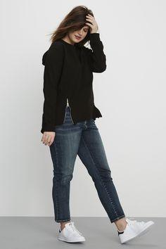 Universal Standard Seine Jeans – Distressed Blue