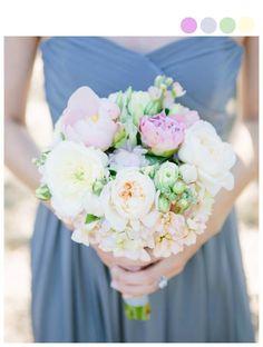 Pastel Princess Spring Wedding Bouquet