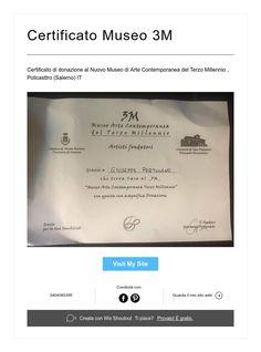 Certificato Museo 3M