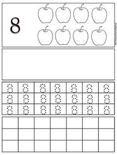 Φύλλα εργασίας γραφής για τους αριθμούς 1 έως 10 | Δραστηριότητες, παιδαγωγικό και εποπτικό υλικό για το Νηπιαγωγείο | Bloglovin' Math Equations, Words, Alphabet, Horse