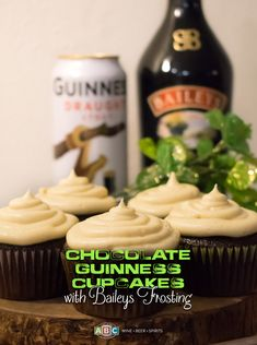 My Goodness, My Guinness! These beer-infused cupcakes are magically delicious. Sweet Desserts, Just Desserts, Delicious Desserts, Yummy Food, Cupcake Recipes, Cupcake Cakes, Dessert Recipes, Irish Recipes, Sweet Recipes