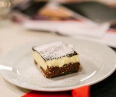 Vaníliapudingos kakaós kocka - sütés nélkül! (Nanaimo szelet ) Recept képpel - Mindmegette.hu - Receptek Coleslaw, Cheesecake, Muffin, Mint, Baking, Recipes, Food, Coleslaw Salad, Cheesecakes