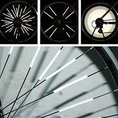 Reflective Bicycle Wheel Spoke Strips (12pcs) df29bdf80