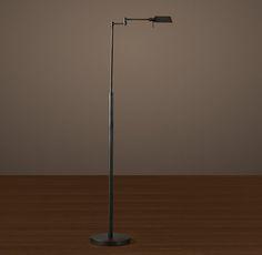 Métier Task Floor Lamp Aged Steel