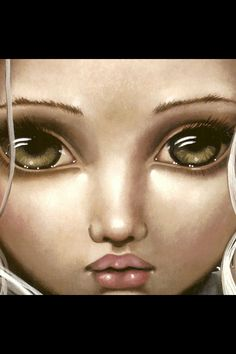 Big Eye art by Angelina Wrona Different Kinds Of Art, Anime Art Fantasy, Stunning Eyes, Eye Art, Fashion Face, Drawing People, Big Eyes, Cartoon Art, Green Eyes