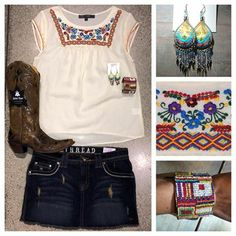 LOVE this new Mexican style embroidery top and accessories to match!  Southern Thread Austin, TX.