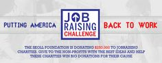 JobRaising | Fundraising Event on Crowdrise  #nonprofit Fundraising Events, Back To Work, Before Us, Non Profit, How To Raise Money, First Step, Foundation, Knowledge, Feelings