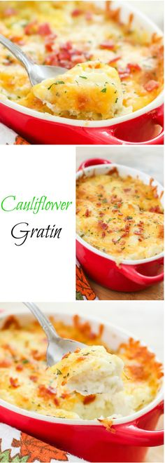 Cauliflower Gratin. Healthier without the potato and just as delicious!