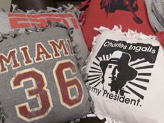 T-shirt Pillows - Going to have to try making these!