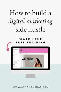 If you're thinking about starting a side hustle or starting an online business where you can work from home, this free training will teach you how to build a successful digital marketing side hustle in just six weeks! Social Media Marketing Business, Business Coaching, Facebook Business, Business Tips, Online Business, Small Business Help, Work From Home Business, Success Coach, Free Training