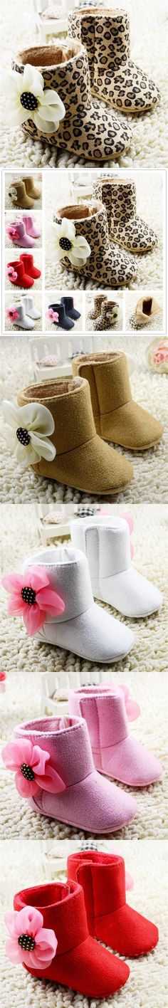 New baby shoes infant girl winter boots Leopard autumn and winter boots XL347