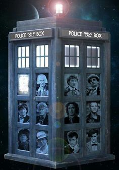 Dr Who and the Tardis- this is for you LISA, go to her board