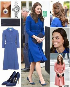 "98 Beğenme, 1 Yorum - Instagram'da duchess.catherine.fashionstyle (@hrhcatherineduchessofcambridge): ""Kate today!!!with her new outfit ...Royal blue coat.."""