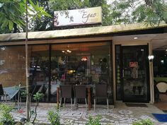 After five years, CAFE EGAO :-)​ has grown in terms of its structure and its menu. Click the link to know more :-) Coffee Shop, Menu, Japanese, Outdoor Decor, Food, Home Decor, Coffee Shops, Menu Board Design, Coffeehouse
