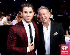 Nick Jonas and Elvis Duran at the iHeartRadio Music Awards which broadcasted live on NBC from the Shrine Auditorium in Los Angeles on March 29. (Photo: Getty Images for iHeartRadio)