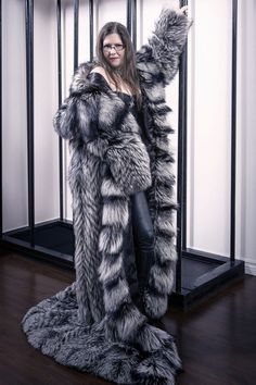 Gigantic Silver Fox Made by Elsa Furs
