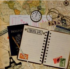 K & Company On The Road Travel Log Flat Printed Scrapbook Paper is available at Scrapbookfare.
