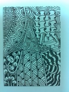 Zentangle ATC card that I made for a swap