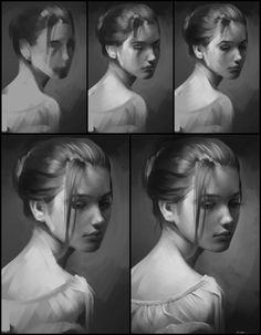 Portrait Practice 5 Process by AaronGriffinArt on deviantART