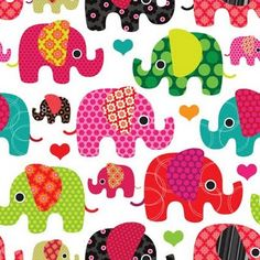 Crazy cute kids pattern with indian holi festival elephant design. #inspire #inspiration #illustration #wallpaper #interior #design