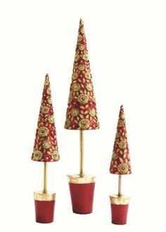 Amazon.com - Floral Fantasy Topiary Tree in Red/Citron - 15 inches - Christmas Decor