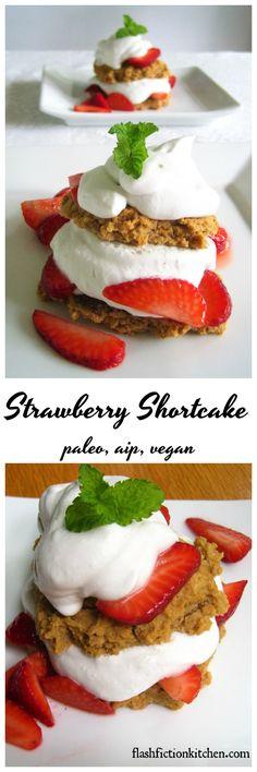 Strawberry Shortcake from Flash Fiction Kitchen (paleo, AIP, vegan)
