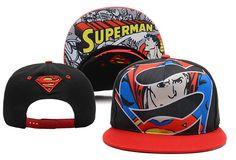 DC Comics Superman Snapback Black Red