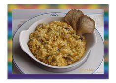 Risotto de pavo y setas Risotto, Paella, Oatmeal, Breakfast, Ethnic Recipes, Food, Arrows, Rice Bowls, Turkey Bird