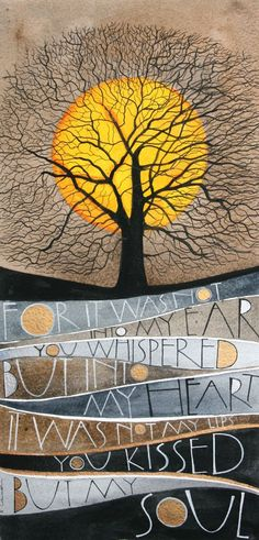 """""""Whispered"""" - lettering work by Sam Cannon - watercolour and pen Sam Cannon, Art Plastique, Tree Art, Belle Photo, Word Art, Painting Inspiration, Painted Rocks, Art Lessons, Amazing Art"""