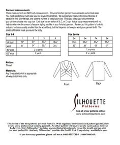 Silhouette Patterns, Inc. - Nicky's Favorite Top