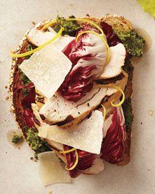 Grilled Chicken and Walnut Parsley Pesto Sandwich
