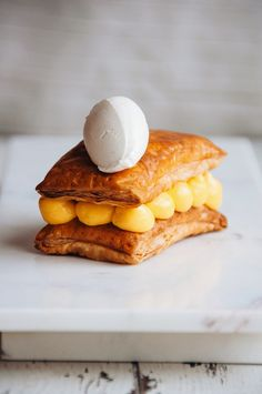 Hint of Vanilla: Passion Fruit Millefeuille