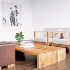 Simplicity Low Coffee Table Design Furniture Wooden Living Room Decorating