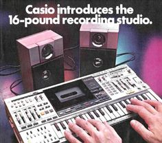 Casio Keyboard Synth Boombox ~ the was one of two Casio portable stereos that included a synthesizer keyboard ~ the other, released a year later featured nearly everything the did, included a shortwave radio Vintage Synth, Vintage Keys, Music Machine, Drum Machine, Radios, Synthesizer Music, Cassette Vhs, Recording Equipment, Music Images