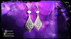 'Medius oriens incantatio' Earrings (White) - Emerald Inceptions