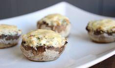Gezonde snack - Gevulde champignons met monchou en ham