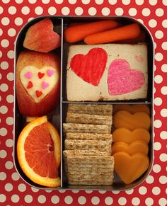 Preschool Lunchbots Valentine Bento