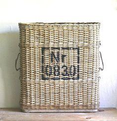 WWII Artillery Basket Switzerland Natural Woven