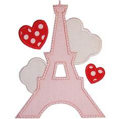 Aplique para camisetas, Torre Eiffel.