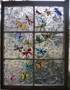 Butterfly Stained Glass:
